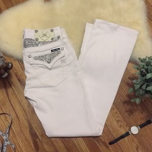 Miss Me Signature Boot cut White Jeans